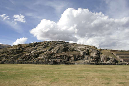 archaeological: The Saqsaywaman archaeological complex, north of Cuzco, Peru, South America