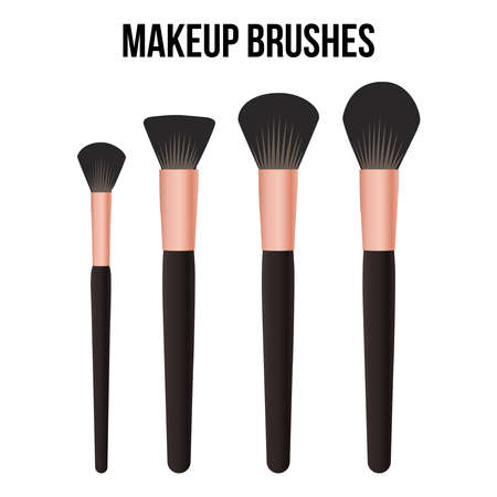 Makeup Brushes 4 Set Beauty Grooming  イラスト・ベクター素材