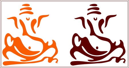 swastika: An abstract profile of the Hindu God Lord Ganesh