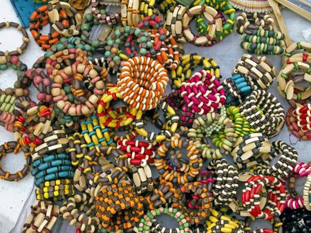indian village: Set of Traditional Indian ornaments in Indian village market khoai mela, Bolpur, Santiniketan, West Bengal.