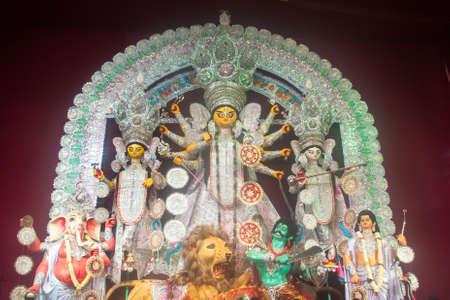 Goddess Durga during the ongoing celebrations of Durga Puja festival