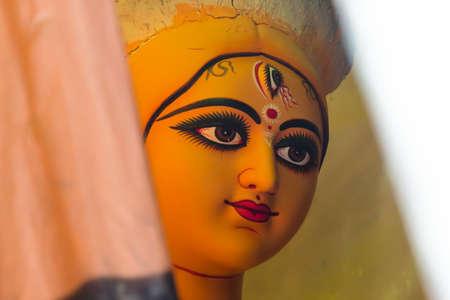 Majestic face of Goddess Durga