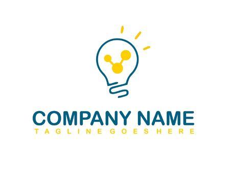 bulb logo vector ilustration template