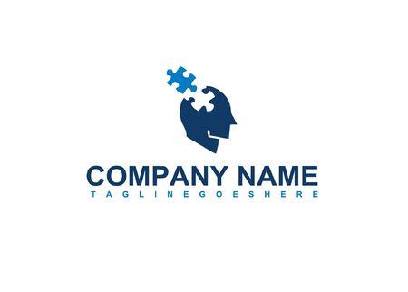 head brain with technology logo