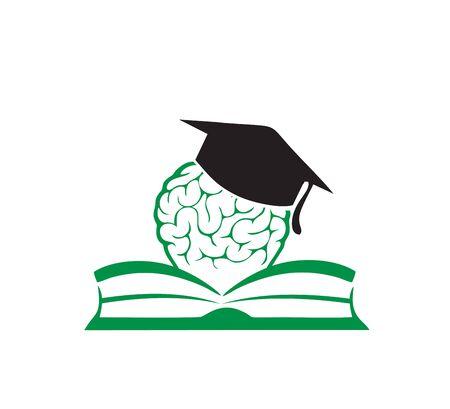 book and brain charity logo