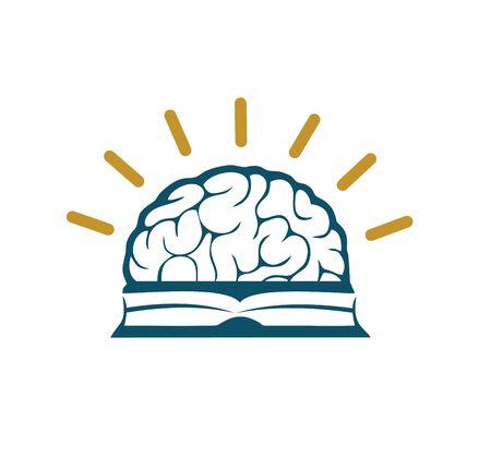 book and brain charity 向量圖像