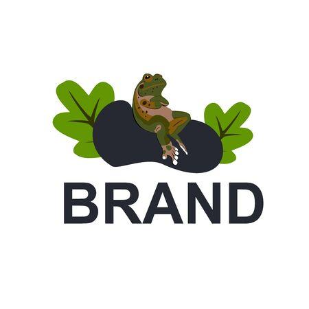 frog in a rock vector 向量圖像