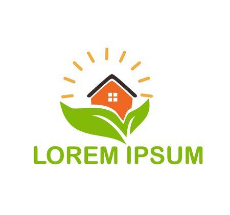 natural home logo vector design