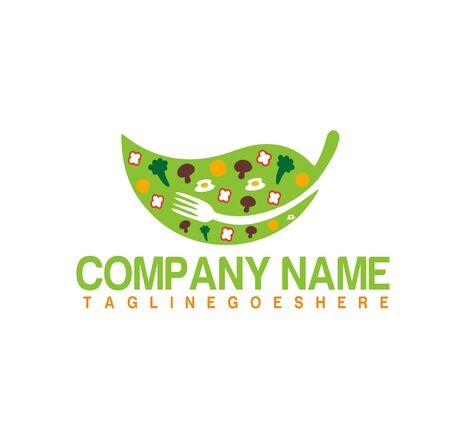 Healthy Food logo design vector. Nature Food. Restaurant, f logo concept. 向量圖像