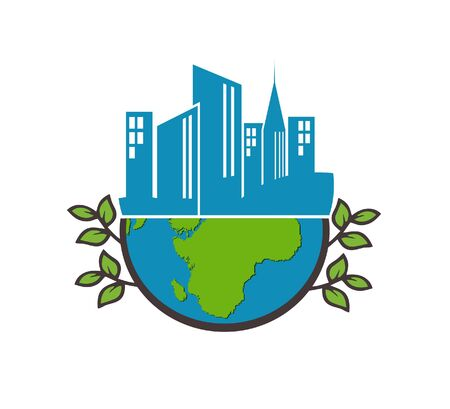city ​​on earth vector image Illustration