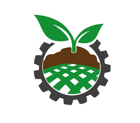 Agricultural industry.Agriculture technology concept. Vector Illustratie