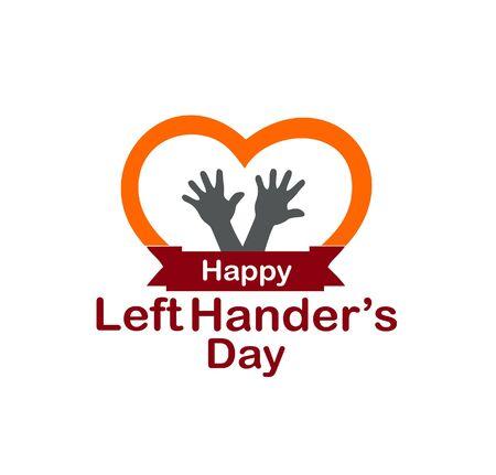 left handers day logo