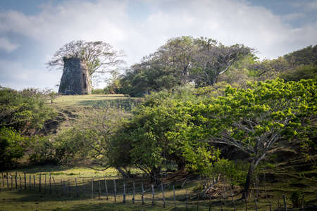 Old sugar mill on an estate in Jamaica
