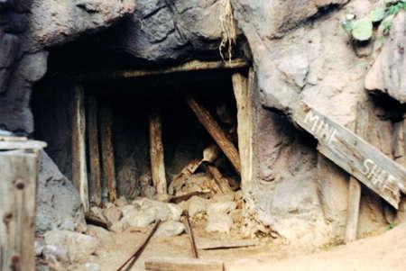 鉱山のシャフト 写真素材