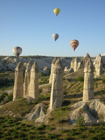 cave dweller: Cappadocia Turkey Hot Air Balloon