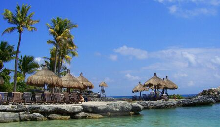 Beach in Cancun Mexico. Reklamní fotografie