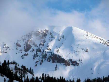 Snowy Utah Mountain photo