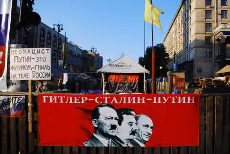 kiev: anti putin propaganda in kiev Editorial