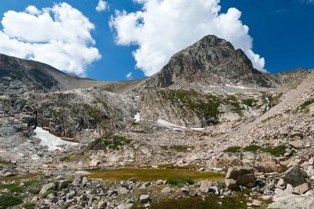 alpine tundra: Alpine tundra landscape high in the Colorado Rocky Mountains Stock Photo