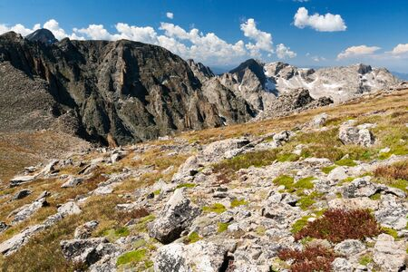 Mountain landscape along the Continental Divide in the Colorado Rocky Mountains