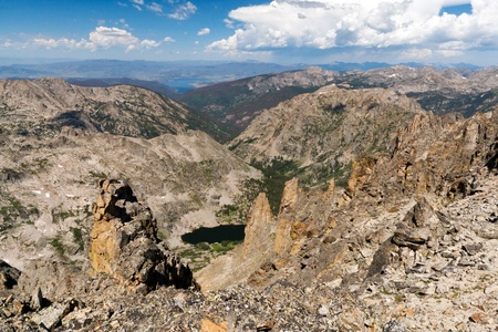 Distant view from the continental divide in the Colorado Rocky Mountains