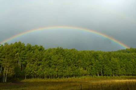 Rainbow Landscape in the Colorado Rocky Mountains photo