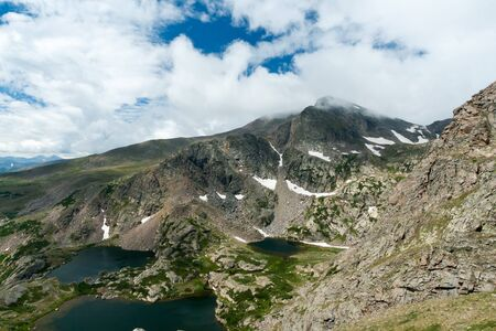 alpine tundra: Colorado Rocky Mountains landscape with high alpine lakes
