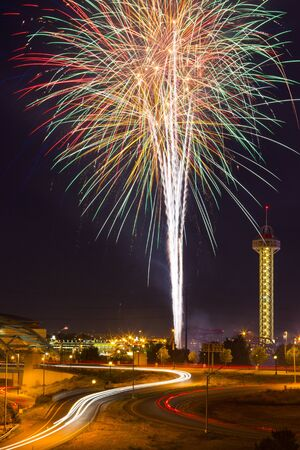 4th of July fireworks celebration in Denver Coloardo photo
