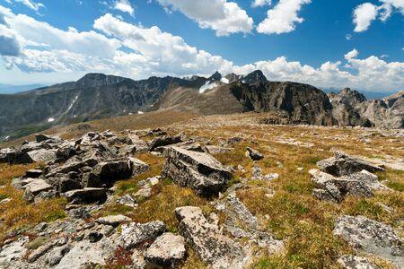 alpine tundra: Arapaho Glacier Trail crosses the Continental Divide in the Colorado mountains