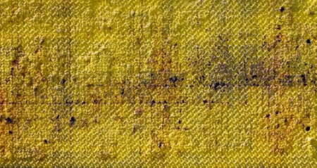 Old Rusty Yellow Metal Background Texture photo