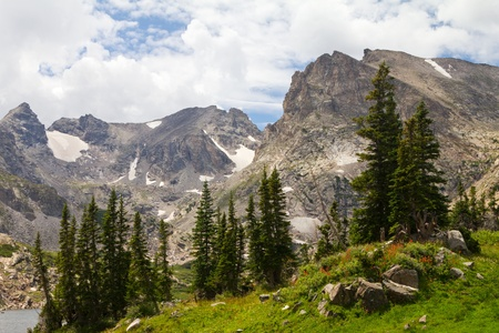 Colorado Rocky Mountains Landscape in Summer photo