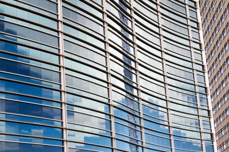 with reflection: Glass Office Windows Background Pattern Stock Photo