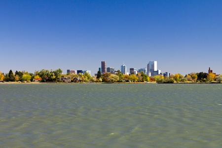 Denver Downtown Skyline From Sloans Lake Park photo