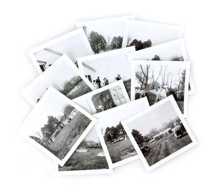 Vintage Black and White Snapshot Photos Collage