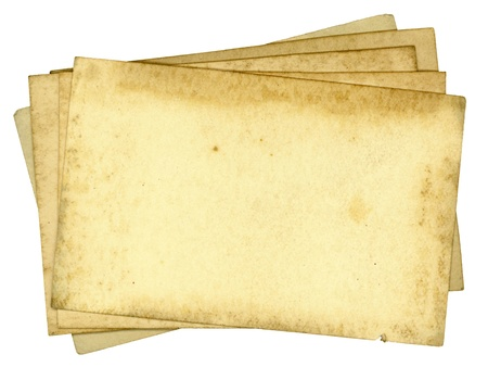 yellowed: Dirty Old Paper Pile Background Texture