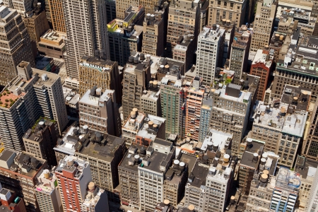 congested: Buildings Backgrounds Texture Pattern of NYC Stock Photo