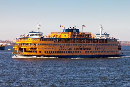 staten: Staten Island Ferry in New York City Editorial