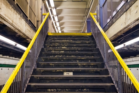 Stairs in New York City Subway Station, 21st - Van Alst Stock Photo - 17432885
