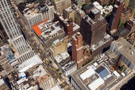 New York City Birds Eye View of Downtown Street
