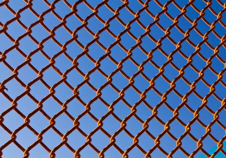 chain link fence: Chain Link Fence Background Texture Pattern Stock Photo