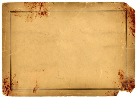 1800s Antique Blood Stained Paper Background Texture photo