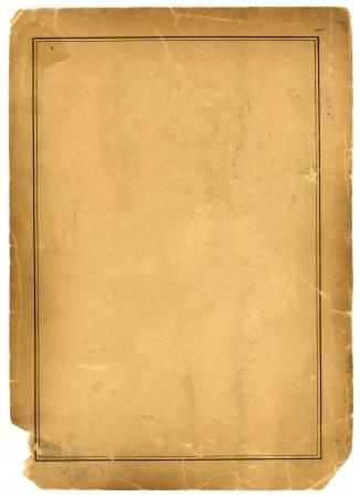 Real 1800s Antique Parchment Paper Background Texture photo