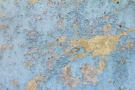chipped: Old blue paint grungy vintage background texture