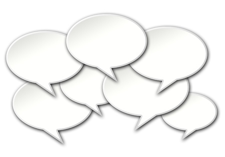 wallpape: Talk bubbles conversation crowded on a white background