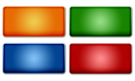button: Set of colorful web buttons design elements Stock Photo