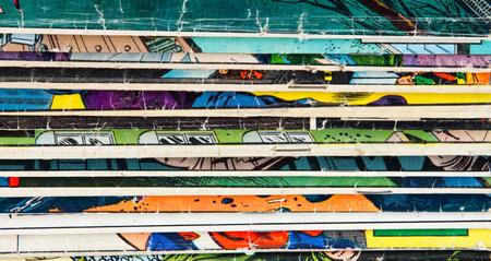 Old vintage comic books texture pattern