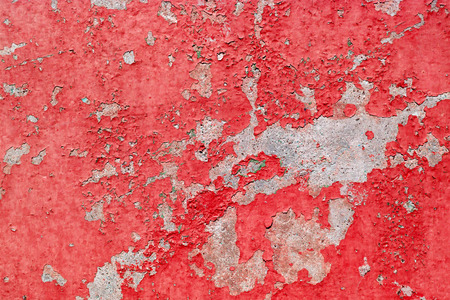 Old cracked red paint background texture wall Stock Photo