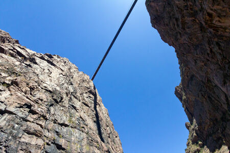 Bridge high over royal gorge in Colorado photo