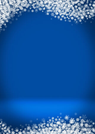 Happy Holidays Winter Blank Greeting Card Background Template