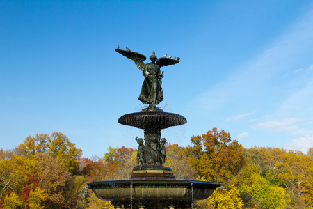 bethesda: Bethesda Fountain in Central Park, New York City during Fall
